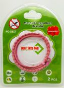 Don't Bite Me Bracelet - Pink/White - twin pack